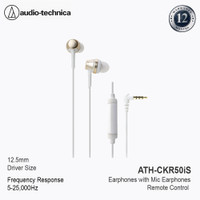 Audio-Technica ATH-CKR50iS Earphones with Mic Earphones Champagne Gold