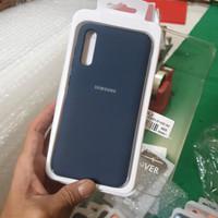 Samsung A30s A50s A50 Soft Silicone Rubber Back Cover Case - Biru Tua