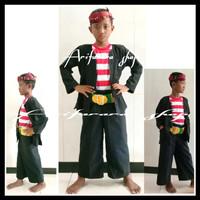 Baju Adat Madura anak/Baju Pak Sakera Anak SD-SMP Komplit