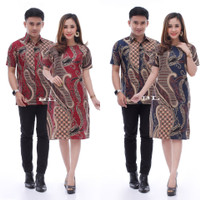 Baju Batik Couple Sarimbit Dress Kemeja Best Seller 06
