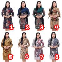 Baju Atasan Wanita / Tunik Baju Batik Wanita / Blouse Batik Kantor An1