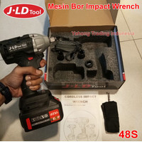 Cordless Impact Wrench 48V Brushless JLD 48S Bor Obeng Kunci 48 Volt