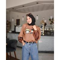 Chibi Maruko Sweater Shirt Supergirl sweatshirt Fashion Realpict Murah