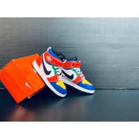 Sepatu Nike Air Jordan Anak High Merah Biru Kuning