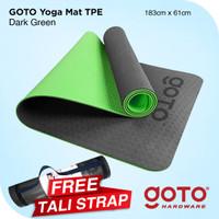 Goto TPE Matras yoga Mat 6mm Double Layer Anti Slip Gym Olahraga