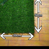 karpet Rumput sintetis aquascape 50×50 cm taman outdoor indoor malang