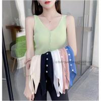 Korean Knitted Button Tank Top / Tank Top Rajut Wanita BC032
