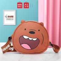 Miniso Tas Slempang Wanita Sling Bag Karakter Lucu We Bare Bears
