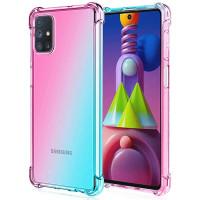 Shock Gradient Case Samsung Galaxy M51 - Rainbow Clear Cover AntiCrack