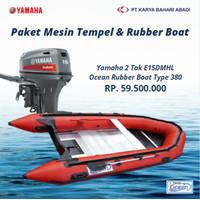 Pre-Order Paket Mesin Tempel E15DMHL & RubberBoat OCEAN Type 380