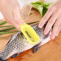 Alat pembersih sisik ikan, scale pengupas sisik ikan. Tanpa belepotan