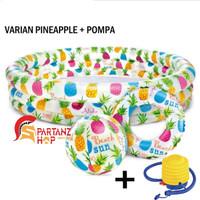 EX PAJAK-KOLAM RENANG 59469 ANAK Set + Pelampung + Bola INTEX + POMPA
