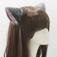 Aksesoris Hair Clip Cosplay Anime Faux Fur Ears