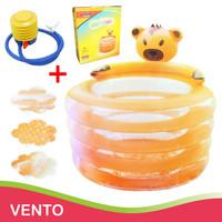 Bak Mandi Bayi Pompa Intime BabyBath and Playing 4 RING Bulat Pool - Orange