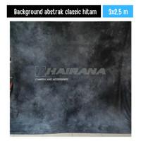 Kain Background Backdrop Studio Foto Abstrak classic hitam 3x2.5m