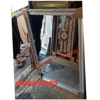 Cermin/ Kaca salon ukir fiber