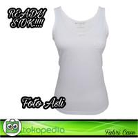 Kaos Dalam Wanita/Singlet Wanita Super Soft Tank Top Wanita - Putih, M