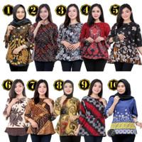 Blouse Batik Murah / Atasan Batik Wanita / Seragam blus M L XL XXL #2