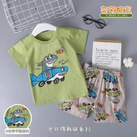 Setelan baju anak import / perempuan / laki laki / motif karakter - 5-7th