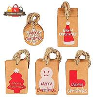 Label Hang Tag Merry Christmas Isi 100 Cutting Stiker Natal Label Kado