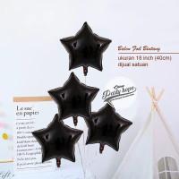 balon foil bintang hitam 40 cm / balon star / balon foil bintang hitam