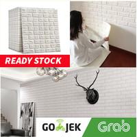 Wallpaper dinding Wallfoam brick 3D Bata 70x77 cm Murah 3 mm minimalis