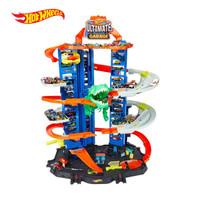 Hot Wheels City Robo T-Rex Ultimate Garage - Mainan Trek Mobil Balap