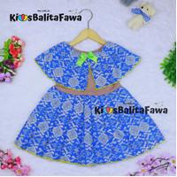 Dress Irene size 1-4 Tahun / Dres Batik Cape Baju Kensi Anak Perempuan