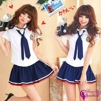 Lingerie Costume Cosplay Sailormoon Seifuku Baju Tidur Seragam Jepang