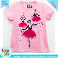 Logokids Kaos Anak Perempuan / Baju Anak NEW BALERINA PINK 1-10 Tahun