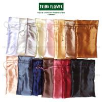 kantong serut tas parcel satin silk premium bahan halus ga mudah sobek