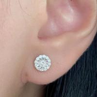 SINAR BERLIAN Jewellery - Anting berlian eropa asli F VVS zew