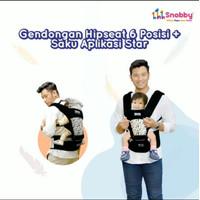 Snobby Gendongan Bayi Hipseat 6 Posisi + Saku Aplikasi Star - TPG 2148