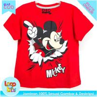 Logokids Baju Anak / Kaos Anak Lelaki Motif Mickey Point 1-10 Tahun