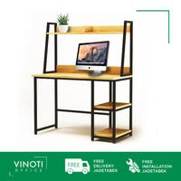Meja Kerja / Belajar VINOTI Office MK 2 dengan Rak