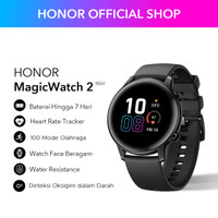 Honor Magic Watch 2[42mm] Agate Black-Baterai 7 Hari+15 Mode Olahraga
