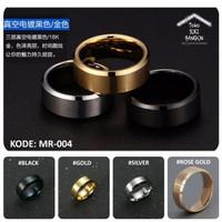 Ring Men / Cincin Pria Titanium Armor CLASSIC Stainless Steel MR-004 - Black, No. 6