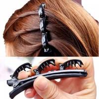 VK Bando jepitan rambut kepang layer hairpin poni klip korea ganda2in1