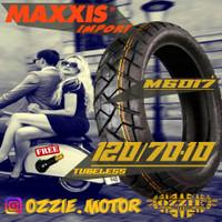 BAN MOTOR MAXXIS M6017 120/70-10 VESPA TIPE LX S ZIP IMPORT