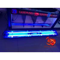 LAMPU TANNING ARWANA 100CM (2 pll philips kuning + 2 aquazonic biru)