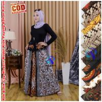 Rok Batik Cap Halus Modern Model Klok Payung Bahan Katun Asli