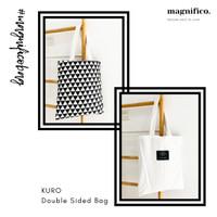 Tas Kanvas 2 Sisi / Double Sided Bag KURO