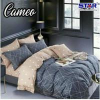 Set Bedcover sprei katun lokal motif Cameo ukuran 200x200