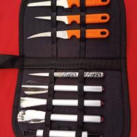 pisau ukir buah/pisau garnish sett dengan tas