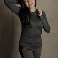 Baju Olahraga Muslim Puma Manset Baju Yoga Senam Fitness Wanita PMLS08