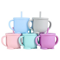 Gelas silikon anti pecah silicone baby cup training motif lucu