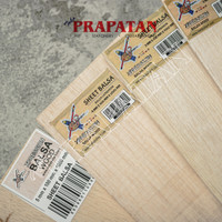 Kayu Balsa Sheet Papan 2mm Sheet 10x100cm / Balsa Wood / Kayu Maket