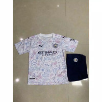 Baju Bola Anak Setelan Anak Jersey Manchester City Away 2020 2021