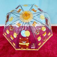 Payung tongkat anak / payung mangkok anak/ payung transparan karakter