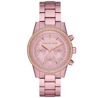 Jam Tangan Wanita Michael Kors Ritz Chronograph Pink Stainless MK6753